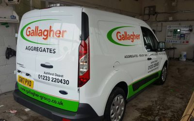 Gallagher Aggregates vehicle graphics